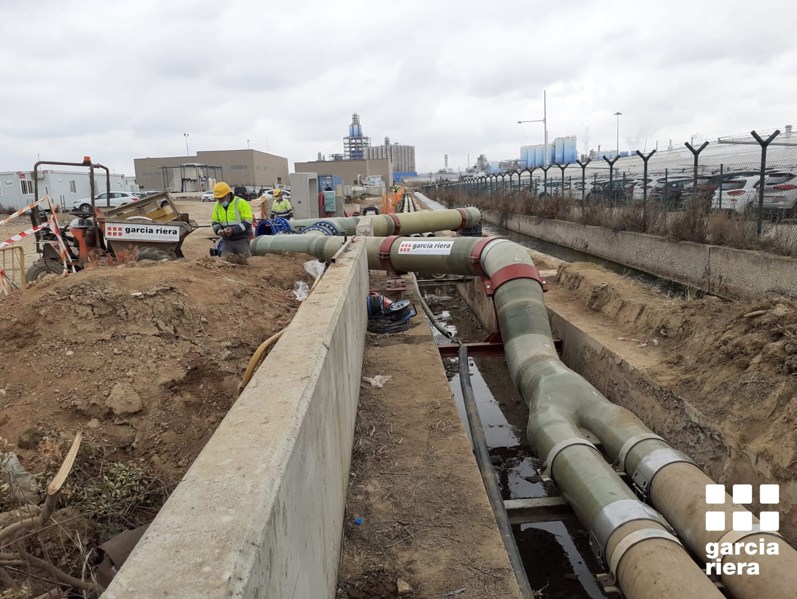 garcia riera nou ramal de la xarxa d'aigua industrial d'AITASA